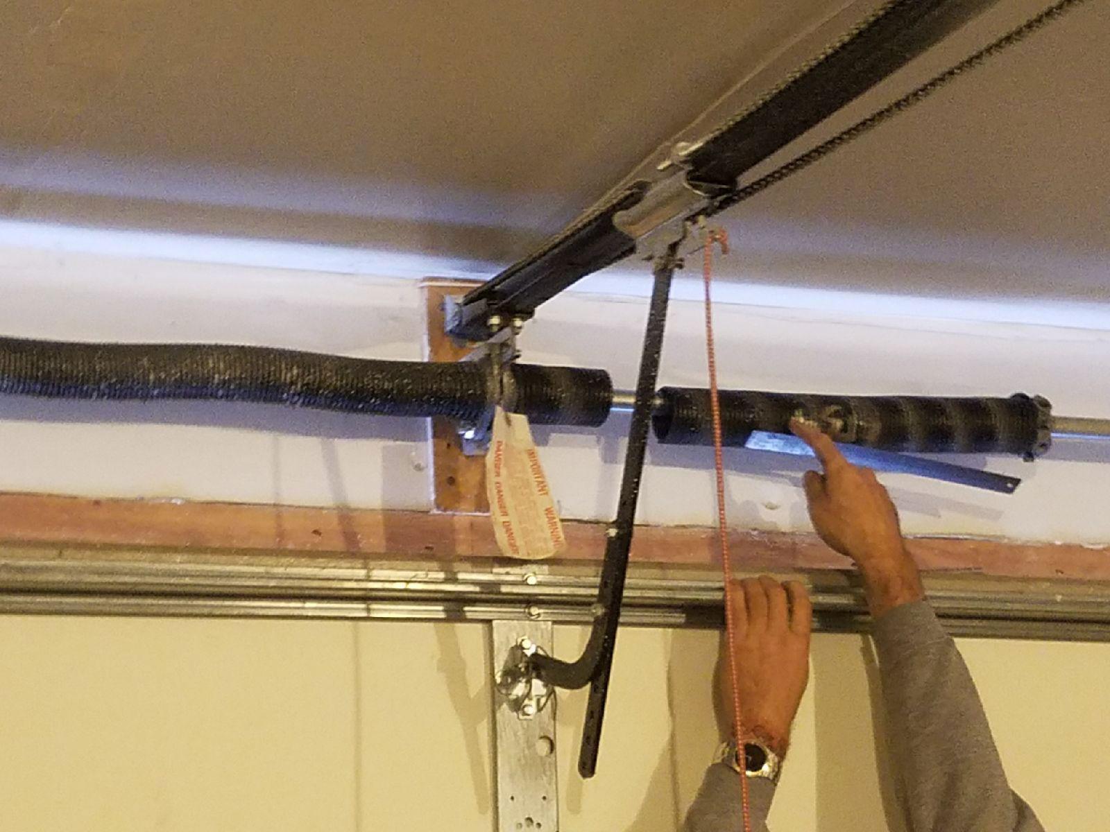 Fixing garage door springs